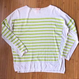 SWEET ROMEO   Lightweight Striped Knit Sweater
